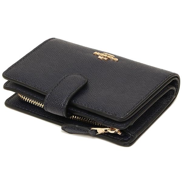 Brand Shop AXES: Coach fold wallet outlet Lady's COACH F11484 IMMID navy | Rakuten Global Market