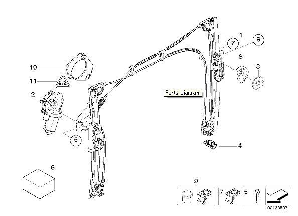 【楽天市場】BMW MINI純正ウィンドレギュレター 左側R50/R52/R53 前期51337039451:D