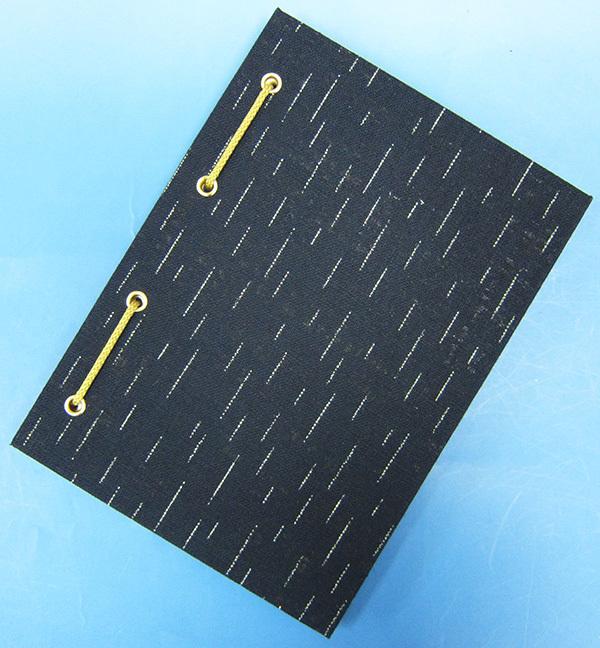 eitikai: 紅印帳本帶子裝訂式美濃日本紙40頁(大)蠟染藏青色灰塵絣   日本樂天市場