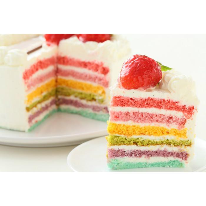 【楽天市場】レインボーケーキ5号サイズ 誕生日ケーキ バースデーケーキ ホールケーキ ケー...