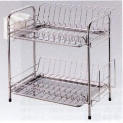 Kitchen Drainer Basket Clearance Cabinets Nichiyohin Oroshidonya Hinotori No Wasted Space Fulla Pipe Double Fu 02p Stainless Steel Rack Draining