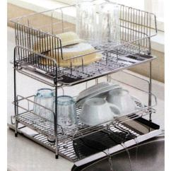 Kitchen Drainer Basket Island Size Nichiyohin Oroshidonya Hinotori To Naturally Flowing Two Stage Rack Stainless Steel Dish Water Flows The Sink Housed In Space Without Waste