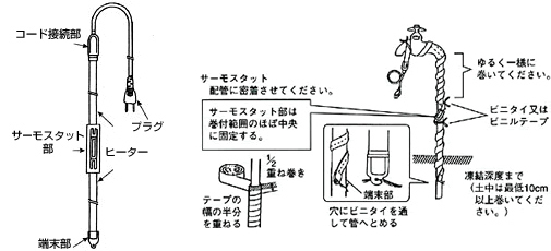 first23: Japan heating water freeze prevention heater I.F