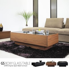 Cheap Center Tables For Living Room Three Piece Set G Shape Table Walnut Glass Wooden Drawer W Black Scandinavian Modern Domestic Completed Gs Boxy Coffee Square Rectangle
