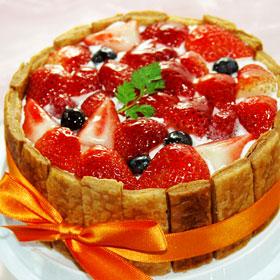 【楽天市場】φ15cm ミックスベリー のケーキ( ストロベリー ブルーベリー フランボワーズ ) ...