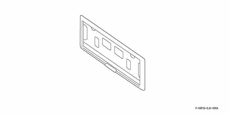 suzuki motors: Odyssey rear license frames from one sale