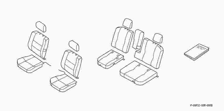 suzuki motors: Vamos seat cover / Honda genuine parts
