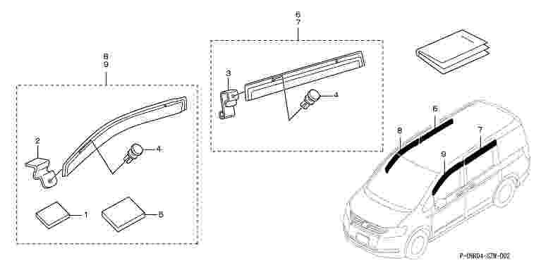 suzuki motors: Step wagon door visor Honda genuine parts