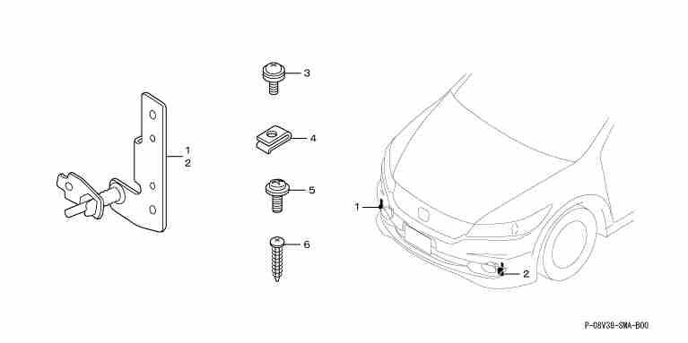 suzuki motors: halogen fog light mounting attachment for