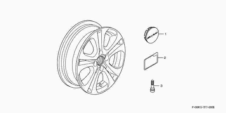 suzuki motors: Freed Modulo alloy wheels 15 inch ME-006 1