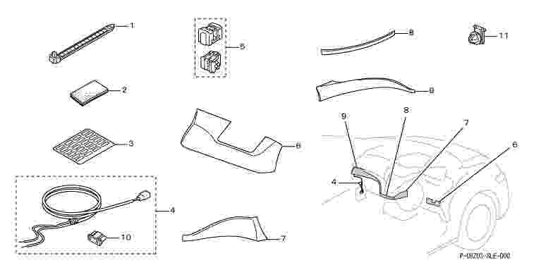 suzuki motors: Odyssey Interior panels (metal-style