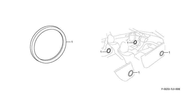 suzuki motors: Accord Interior Panel speaker panel ring