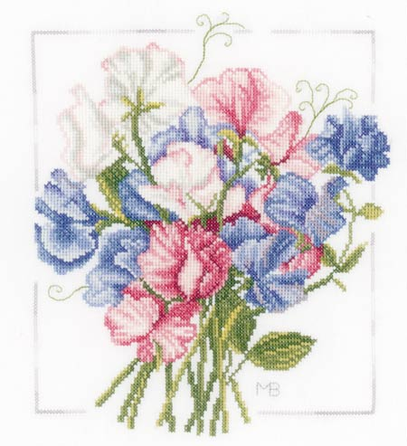 sweet pea embroidery # 14