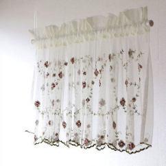 Kitchen Cafe Curtains Macy's Towels Hakusan 供供咖啡厅窗帘45cm长比赛眼罩漂亮的刺绣厨房厕所洗手间窗帘小 供供咖啡厅窗帘45cm长比赛眼罩漂亮的刺绣厨房厕所洗手间窗帘