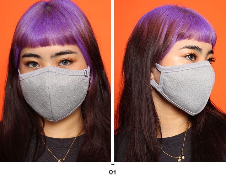 honkakuha: 不一次性地使用的俱樂部噪音CLUB NO1Z口罩人分歧D黑粉紅格雷大的尺寸能洗的布製造立體方式系統的 ...