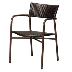Metal Stacking Chairs Outdoor Gold Chair Covers Uk Huonest Exterior Gardening Furniture Outdoors New Life Moving Made Of Garden Aluminum Armchair Brown