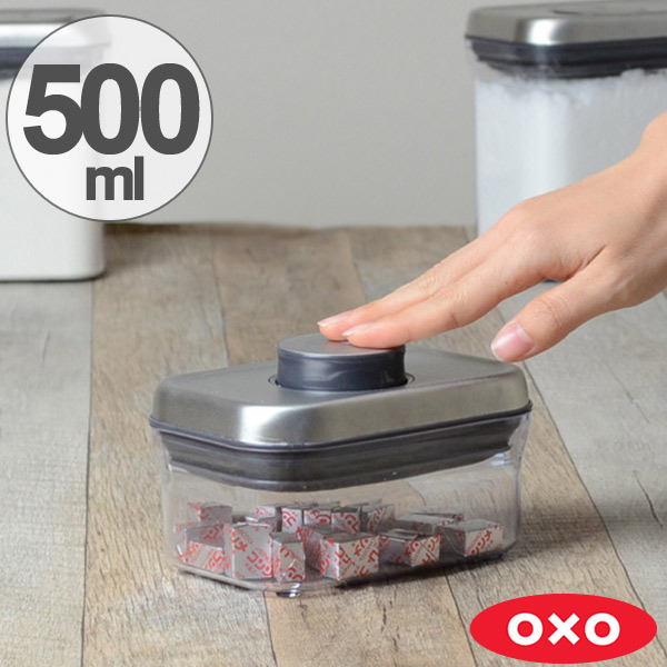 oxo kitchen supplies one hole faucet interior palette pop container stainless steel rectangle mini 500 ml save containers sealed plastic transparent condiment stocker