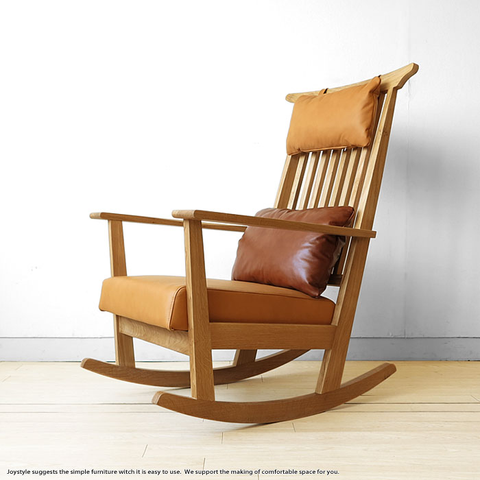 solid wood chairs used folding for sale joystyle interior oak rocking chair with luxury natural sections and use covering material leather cushion wooden sohie