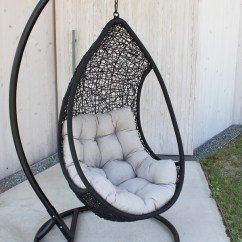 Hanging Chair Qatar Herman Miller Aeron Size B Reviews Kagu Gforet One Black Hammock Swing Lutecia Tear Drop Deck Bubble Ratanchair Basket