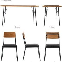 Iron Chair Price Office Alternatives Kagumaru Dining 5 Point Set Natural Wood Walnut Steel 4 Legs Table Width 135 Cm Vintage Scandinavian Retro
