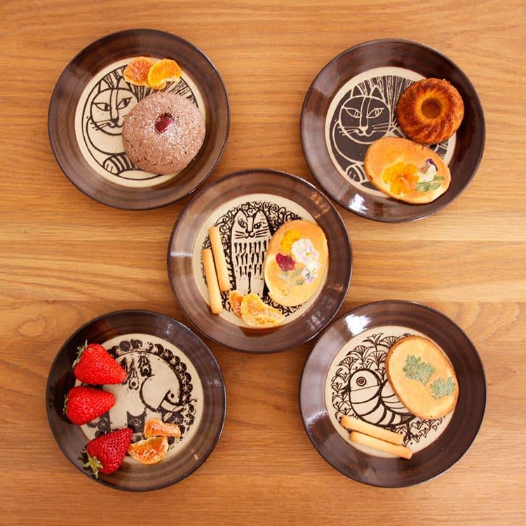 【楽天市場】リサラーソン LisaLarson 益子の皿【リサ・ラーソン 小皿 皿 食器 和食器 陶器 ...