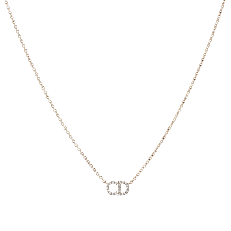 【楽天市場】Christian DiorクリスチャンディオールペンダントネックレスCDロゴゴールドチェ...