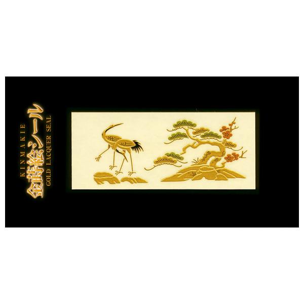 【楽天市場】蒔絵シール「山/鶴(2)」:金箔屋本舗 Gold-Shop