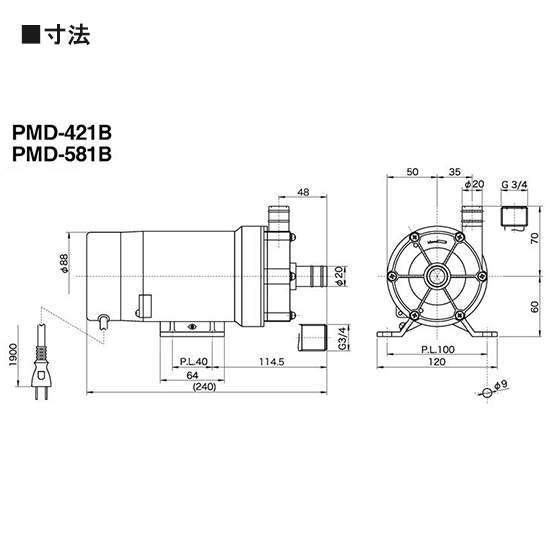 koiootani: ♭ ∴ three-phase electric magnetic drive pumps