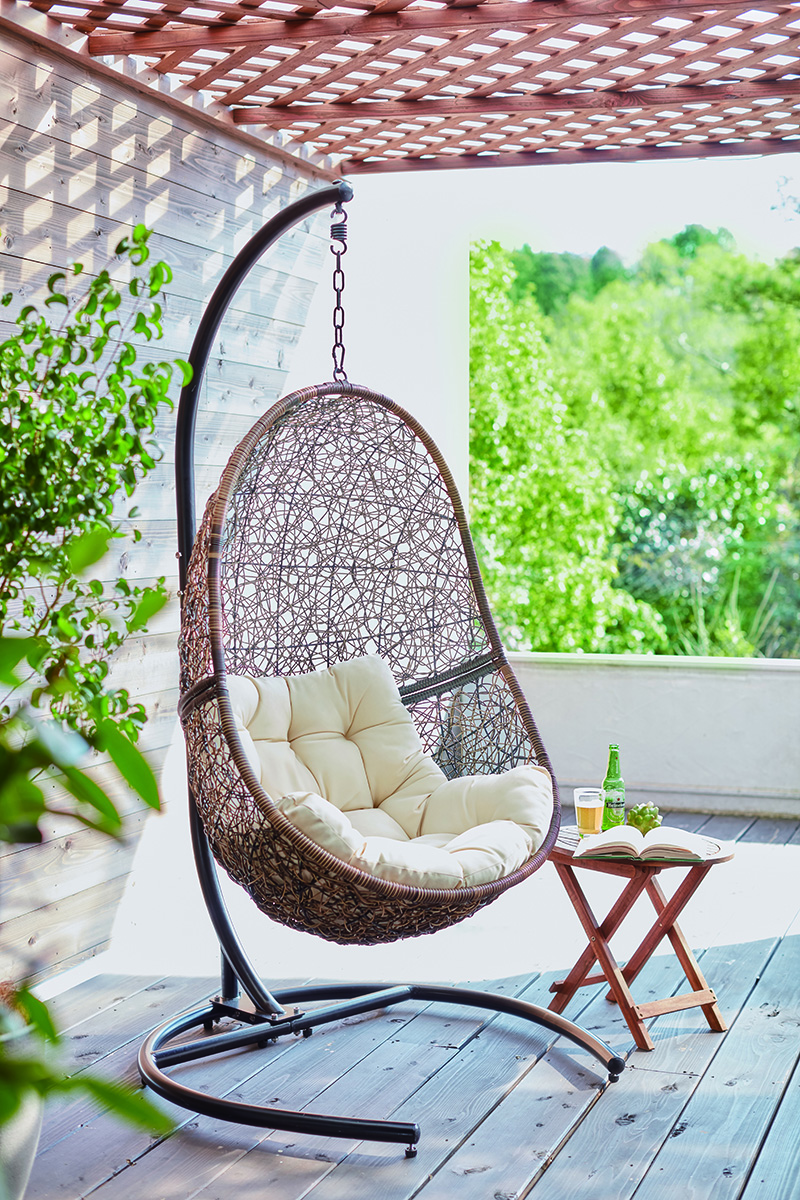Hanging Chair Outdoor Hanging Chair Hanging Chair Outdoor Indoor Camping Resort Relaxation Lycra Inning Unhurried Holiday Healing Natural Color Shin Pull Design