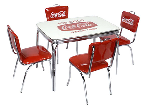 coca cola chairs and tables revolving chair manufacturer in lahore lavieen american diner brand dinner table amp v back 4 leg set pj 600dl 50hc