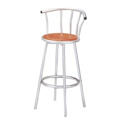 High Chair That Attaches To Counter Wheel Price In Karachi Livingut Rotating Steel Chairs Bar Dining
