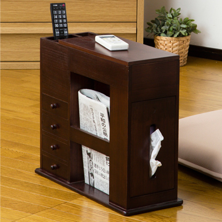 chair side tables with storage gym ball livingut table small compartment seat for width 49 cm remote control rack drawer case pill box