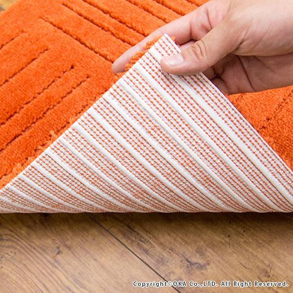 orange kitchen rug outdoor hood mat and factory pita place approximately 45 cm x 60 2 disc washable mats tile joint pile pet