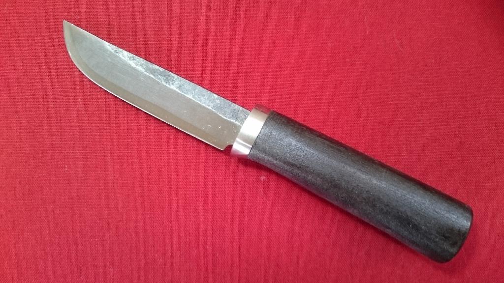 katana kitchen knife large rug mifune cosmic 青纸1号成交小刀菜刀型黑花纹85mm应用小刀打猎刀 户外 锻造小刀