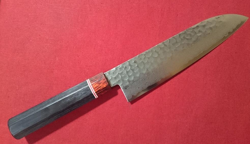 damascus kitchen knives walnut table mifune cosmic mallet eyes v10 steel 45 levels triple purpose knife 170mm octagon pattern echizen takefu