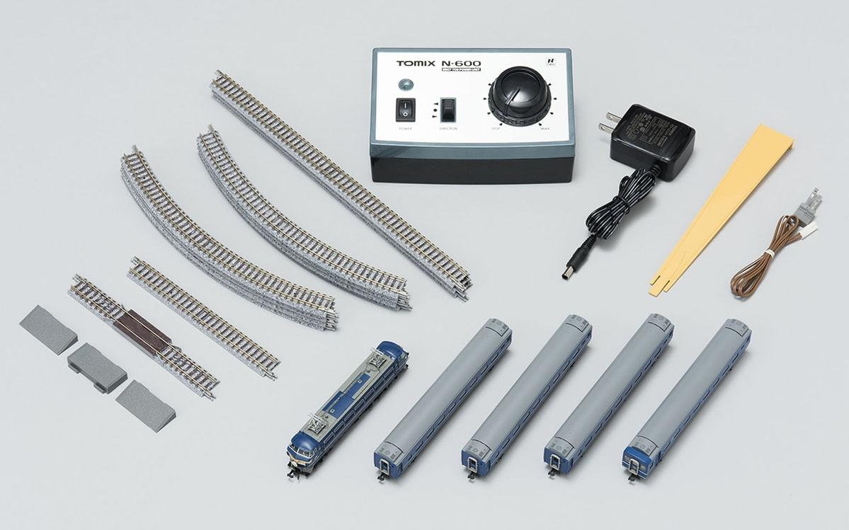 hight resolution of tomix n 90179 basic set sd blue train railroad model