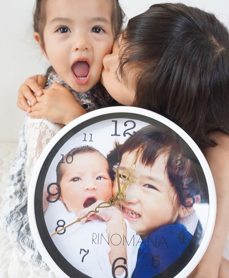 【楽天市場】お名前時計.com丸型 シンプル1枚デザイン 掛け時計 置時計 ホワイト 23cm オ...