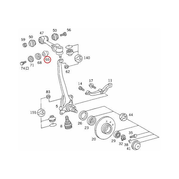 【楽天市場】URO製 ベンツ W123 フロント アッパーアームブッシュ アウター 左右4個セット