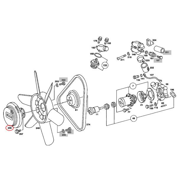 【楽天市場】URO製 ベンツ W123 W114 W115 ファンクラッチ/ファンカップリング/ファンドライブ