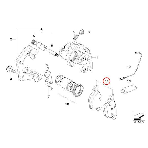 【楽天市場】febi bilstein製 BMW E90 E92 E60 E61 F07 リア/リヤ ブレーキパッド