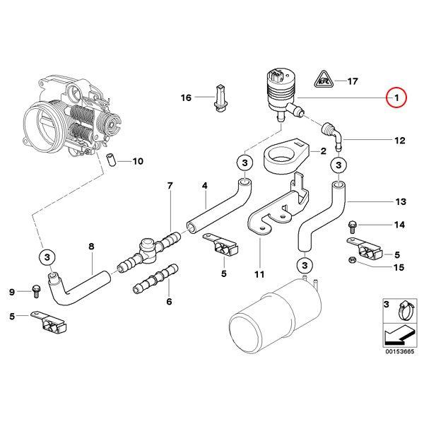 【楽天市場】febi bilstein製 BMW E39 タンクベントバルブ/パージバルブ 13901433603