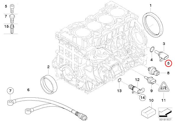 【楽天市場】febi bilstein製 BMW 7シリーズ E65 E66 クランクカクセンサー/クランク角