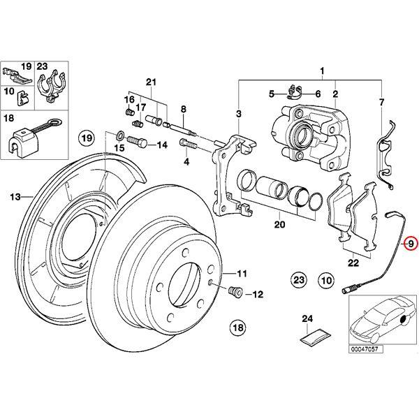 【楽天市場】全国送料200円 BMW E32 7シリーズ フロント/リアブレーキパッドセンサー 1本