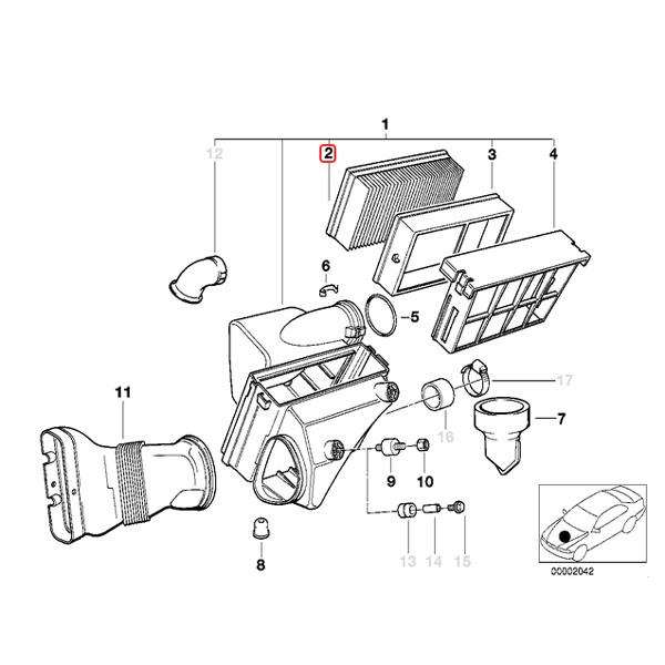 【楽天市場】BOSCH製 BMW E36 E46 エアフィルター/エアクリーナー/エアエレメント