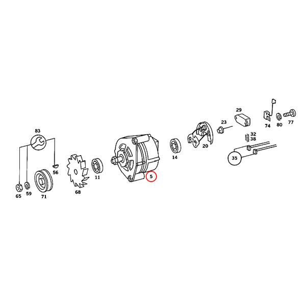 【楽天市場】純正OEM BOSCH製 ベンツ W123 オルタネーター/ダイナモ 0051547402 200