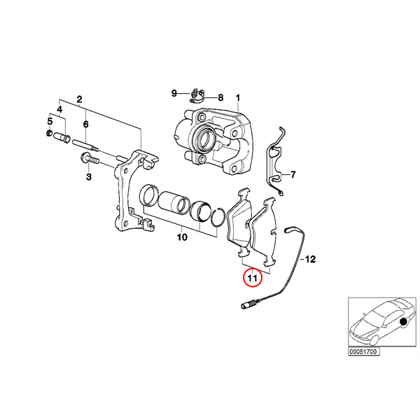 【楽天市場】BOSCH製 BMW E36 E46 QuietCast リア/リヤ用 プレミアム ブレーキパッド