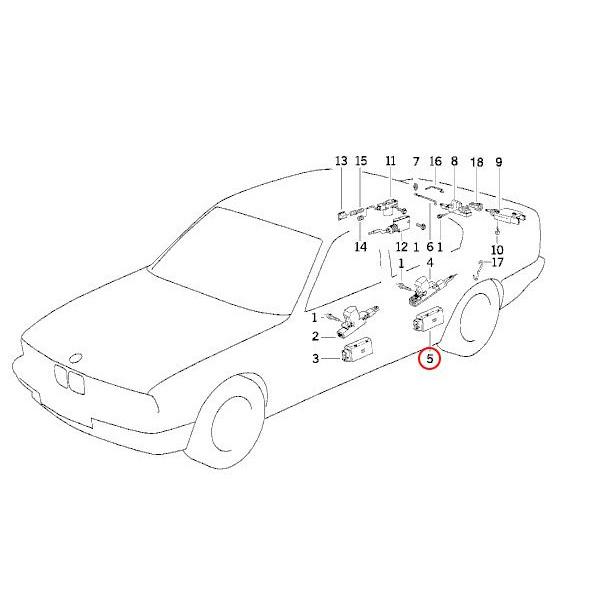【楽天市場】BMW E34 リア/リヤ ドアロックアクチュエーター 1個 67111393999 5シリーズ