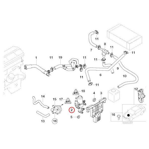 【楽天市場】純正 BMW 3シリーズ E46 ウォーターバルブ/ヒーターバルブ 64118369805 318i