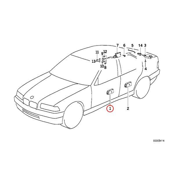 【楽天市場】BMW E34 5シリーズ フロント ドアロックアクチュエーター 1個 67118353012