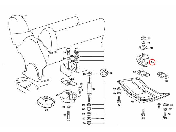 【楽天市場】MEYLE製 ベンツ W114 ミッションマウント ラバーブッシュ 1232402518